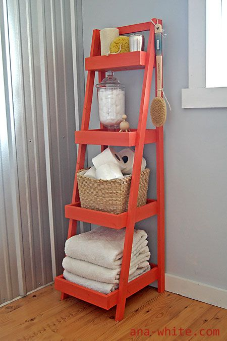 Ana White | Build a Painter's Ladder Shelf | Free and Easy DIY Project and Furniture Plans........Boy do I love the Ana White Blog! So many awesome plans, if only she gave blueprints to build houses!