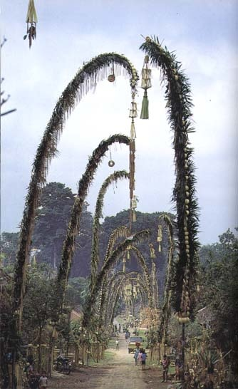 Penjor offerings