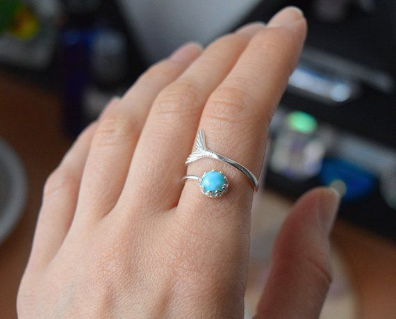 Larimar Ring Gold Larimar Ring Adjustable Ring Silver Boho Wedding Ring Larimar Jewelry Mermaid Ring Adjustable Ring Silver Sapphire Silver Ring Silver Rings