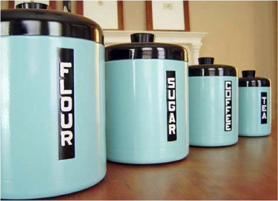 DIY Retro Canisters, painted