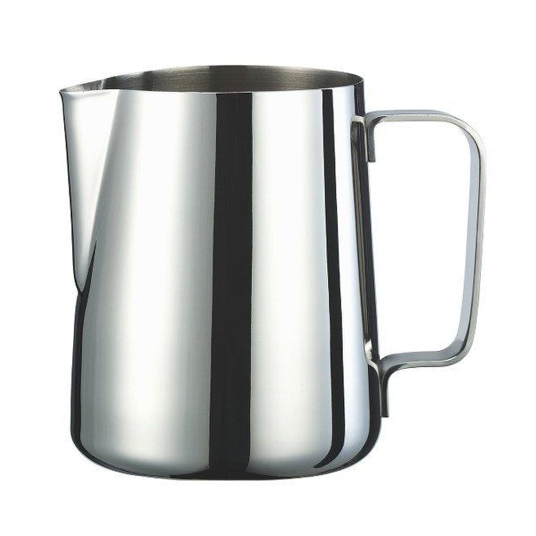 This Brew Tool stainless steel jug is perfectly designed for frothing milk on a home or professional espresso machine