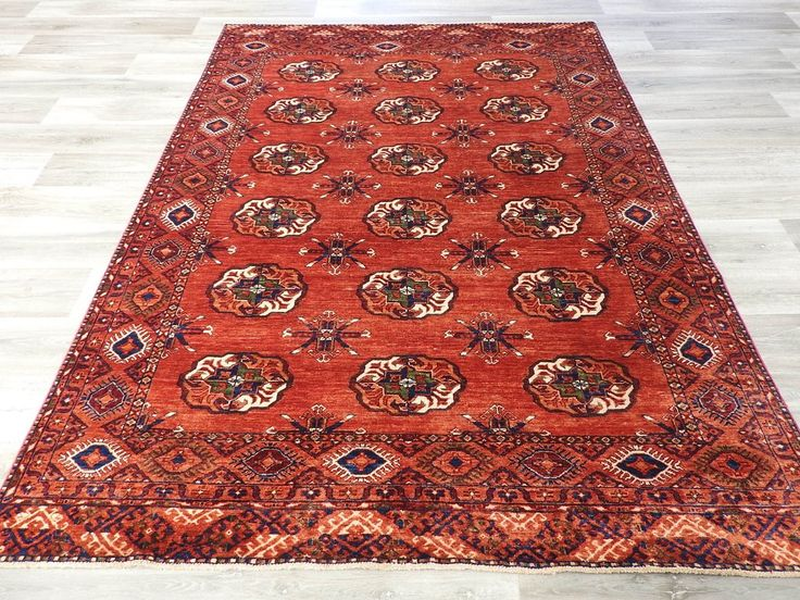 Afghan Hand Knotted Choubi Rug Size: 257 x 186cm