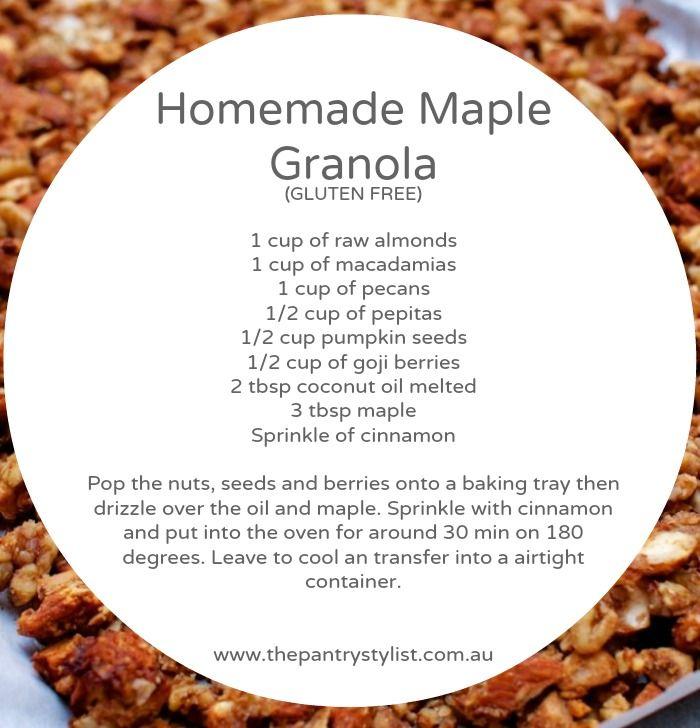 Homemade maple granola  #paleo #paleobreakfast #health #recipe