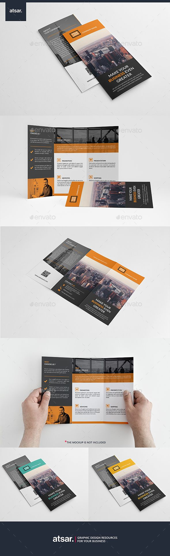 Simple Corporate Trifold Brochure Template PSD #design Download: http://graphicriver.net/item/simple-corporate-trifold/13955642?ref=ksioks