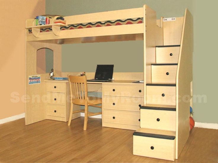 17 images about bunk bed ideas on pinterest built in bunks furniture and drawers - Bunk bed with drawer steps ...