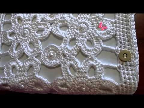 Pochette - tutorial passo passo per realizzarla - Crochet pochette - YouTube