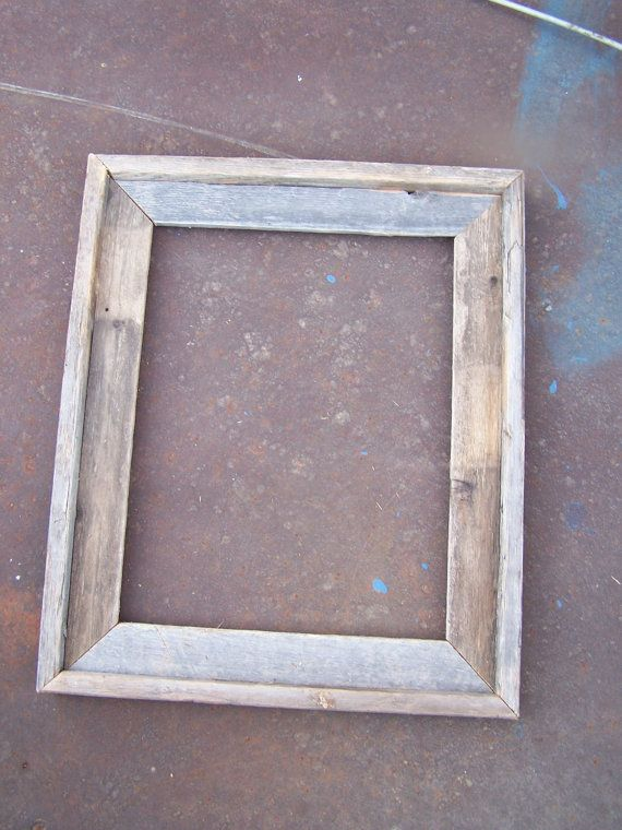 11x14 Deluxe Barnwood Picture Frame Rustic by bluebarnfleamarket, $11.00.         Possible map frames... With glass