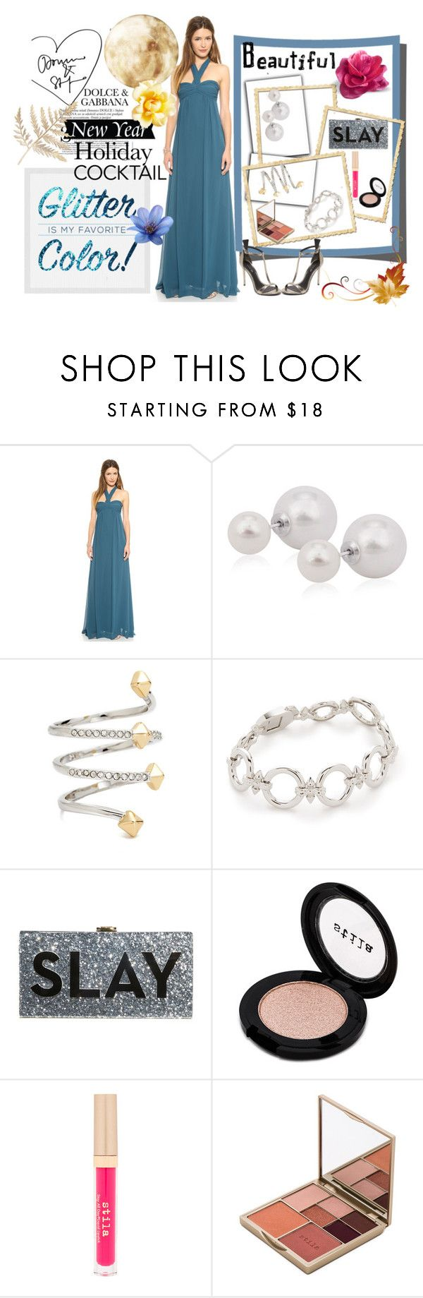 """""""Holiday Cocktail....!!!"""" by hillarymaguire ❤ liked on Polyvore featuring Joanna August, Rebecca Minkoff, Noir Jewelry, Milly, Stila and Rachel Zoe"""