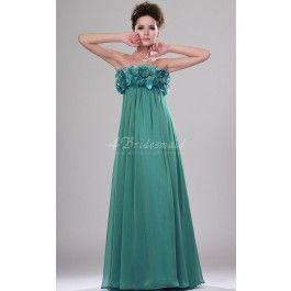 A-line Strapless Long Jade Chiffon Bridesmaid Dresses(BD444_129)_Change colour to pearl pink and add shoestring straps
