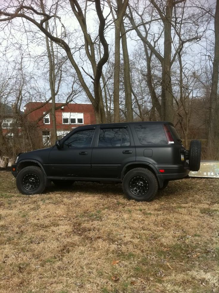 Back of flat black offroad CRV