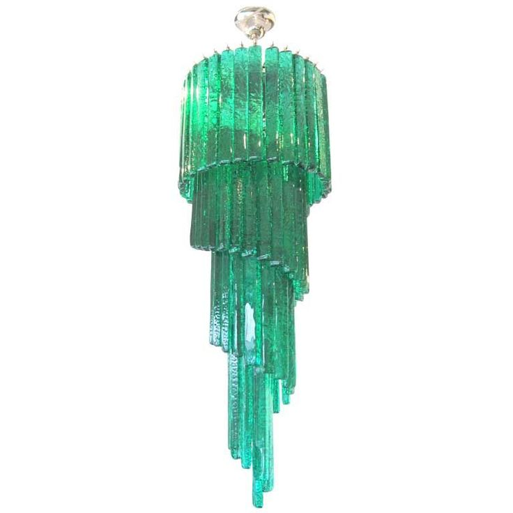Oooh gorgeous!!  Mid-Century Mazzega Custom Emerald Green Chandelier!  Oh NO worries, I'd FIND a place for this!