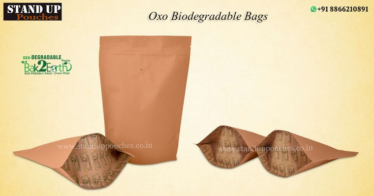 """We have started production line """"#Bak2earth"""" or return to the ground. #StandUpPouches is a leading distributor and manufacturer of this kind of #biodegradablebags."""