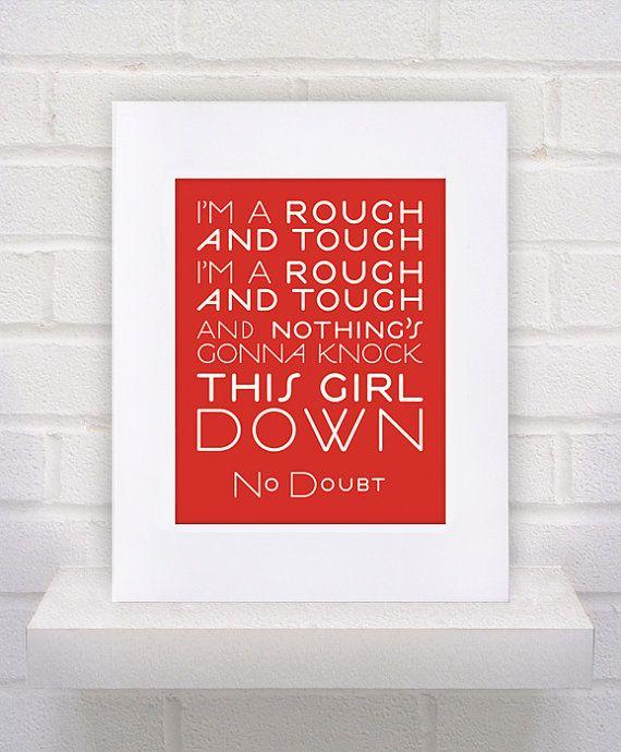 No Doubt Lyrics  11x14  poster print by KeepItFancy on Etsy, $10.00
