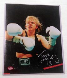 Tonya Harding Boxing Hand Signed Autographed 8x10 Photograph