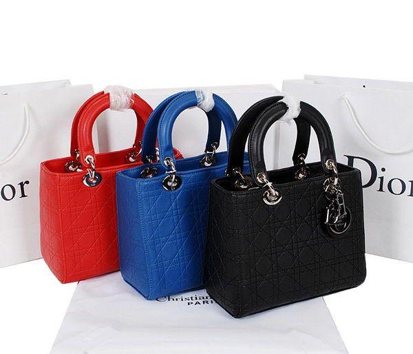 Lady Dior Bag mini Bag in Calfskin Leather D8823