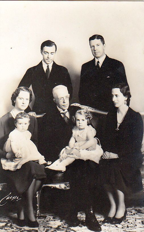 Four generations. King Gustaf V Adolf of Sweden with his son, Crown Prince…