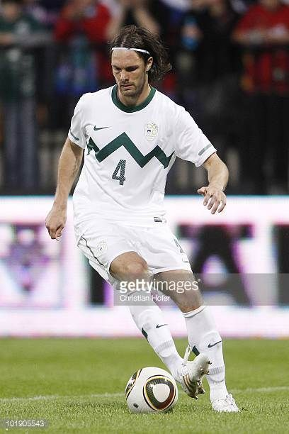 Marko Suler of Slovenia in action during the International Friendly match between Slovenia and New Zealand at the Stadion Ljudski vrt on June 4 2010...