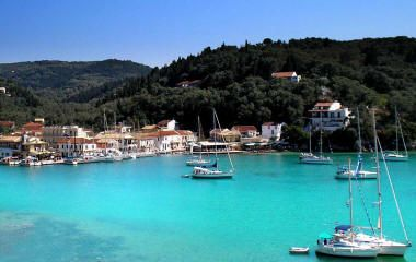 Island of Paxos, Greece.  Wonderful, wonderful place!  Great food, friendly people, beautiful scenery!
