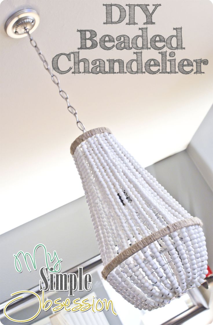 diy beaded chandelier...