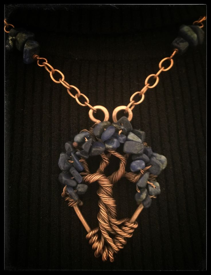 Tree of Life wire rame e Lapis