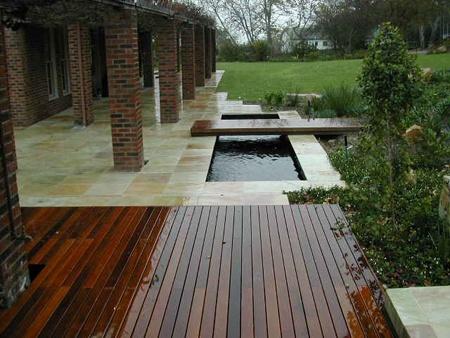 architectural koi pond