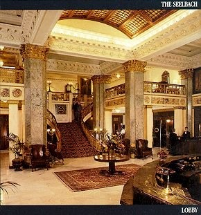 Seelbach Hotel in downtown Louisville KY - beautiful old hotel! and supposedly haunted.... Stayed there for UFC fight Kampman vs Sanchez