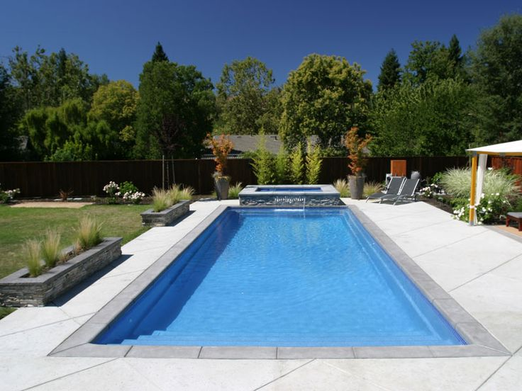17 best ideas about rectangle pool on pinterest backyard pool landscaping simple pool and - Rectangle pool designs ...
