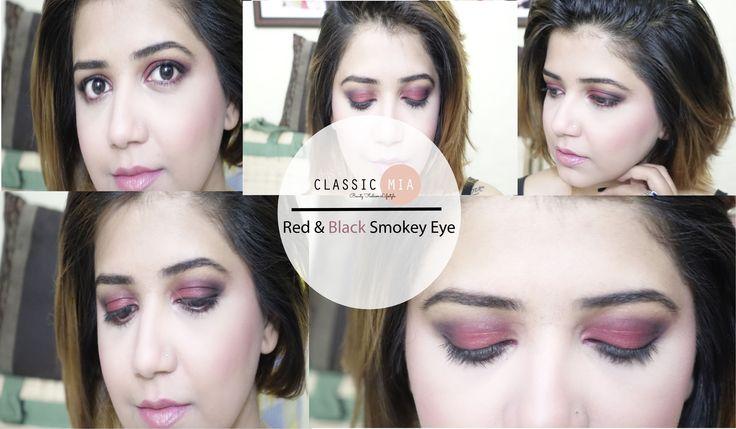 ♥♥ Red & Black Smokey Eye | Classic Mia ♥♥ - YouTube