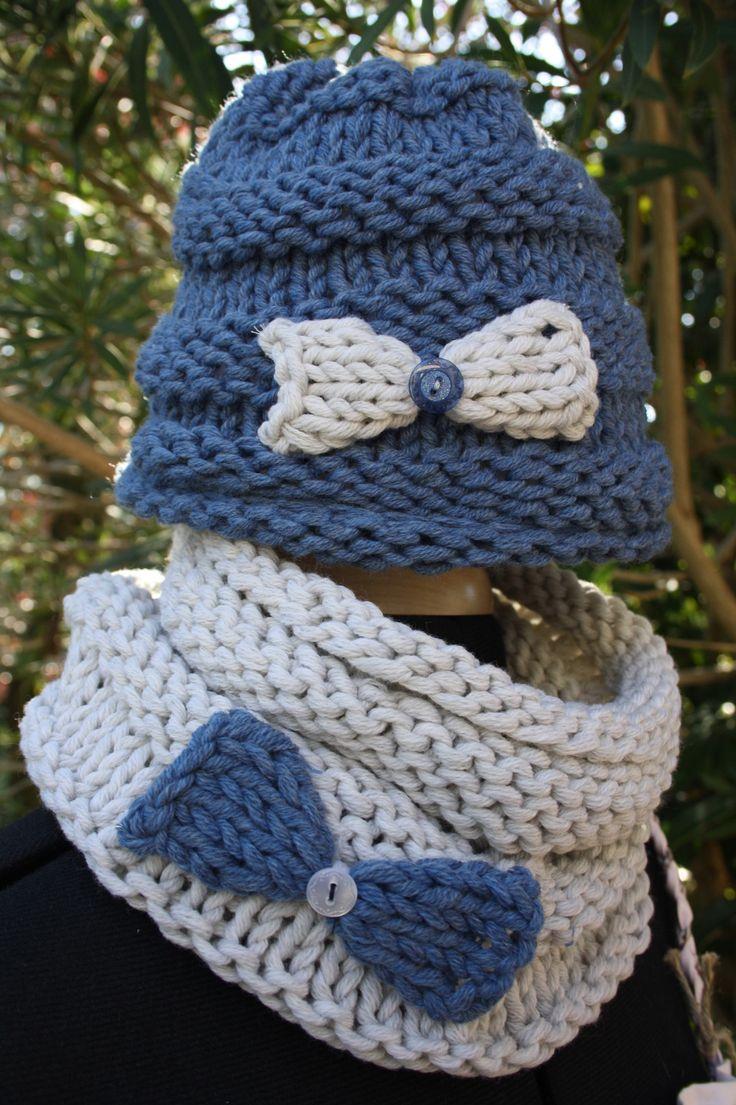 """Ensemble bonnet et snood enfant """"Suzi"""" : Chapeau, bonnet par celine-monaco"""
