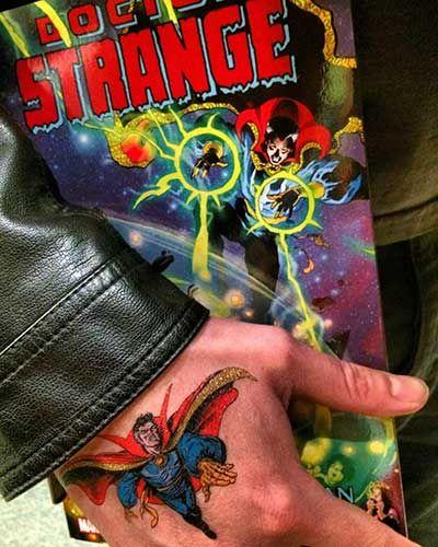 Applied Marvel Tattoo