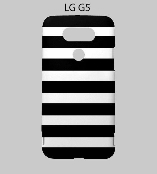 Black White Striped LG G5 Case Cover