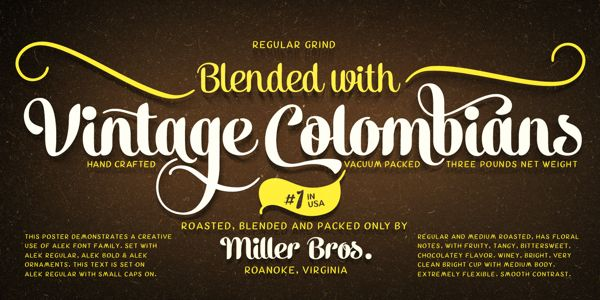Alek Typeface by Emil Bertell, via Behance