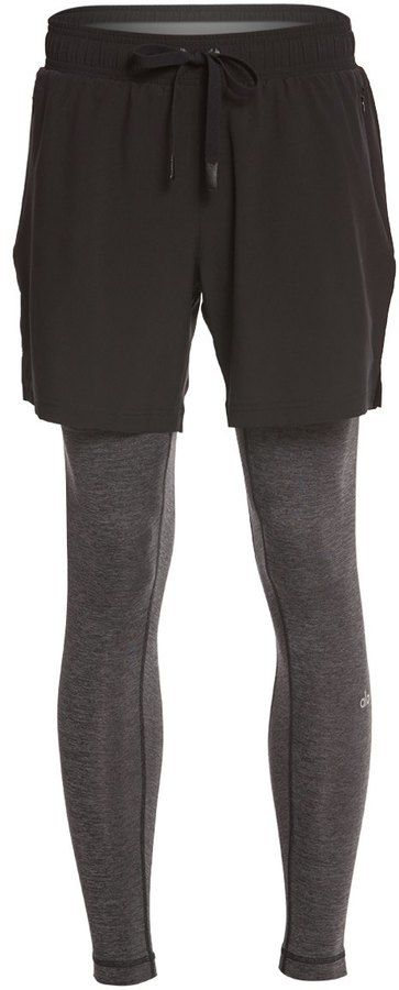 Alo Yoga Men's Stability 2 in 1 Workout Tights 8151298