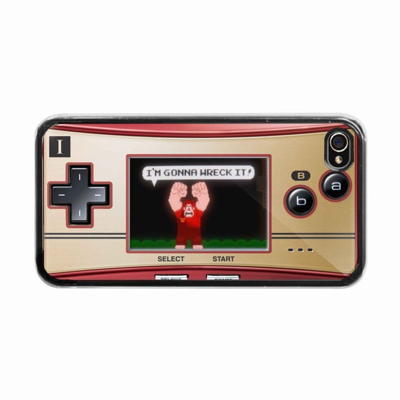 iPhone 4 /4s hard case  game boy with wreck it ralph by BeeCase, $14.99