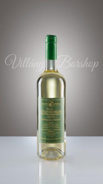 Radó Pécsi Zöldveltelíni 2014  Az évjárat és a fajta egymásra talált. A Zöldveltelíni kedveli a hűvösebb csapadékosabb évjáratokat. Ennek megfelelően szép, citrusos, mentás illat, üde, frissítő savak és ropogós,az illatot követő zamat jellemzi ezt a bort.