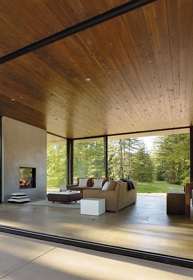 Open living room, timber ceilings. Hout hoeft niet alleen op de vloer! #tablazz #plafond #houit #woonkamer #inspiratie