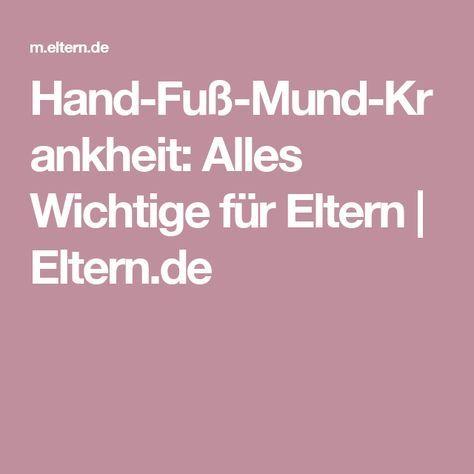 Hand-Fuß-Mund-Krankheit: Alles Wichtige für Eltern  | Eltern.de