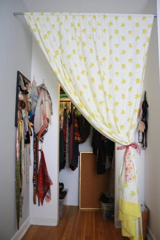 1000 Ideas About Tension Rod Curtains On Pinterest