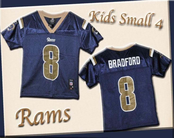 Jersey Rams #8 Bradford Boys Small 4 Basketball Sports Team Silky Material  | eBay