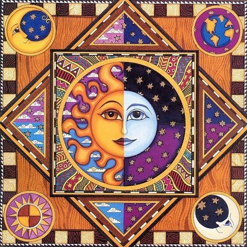 Sun and moon.  by Dan Morris