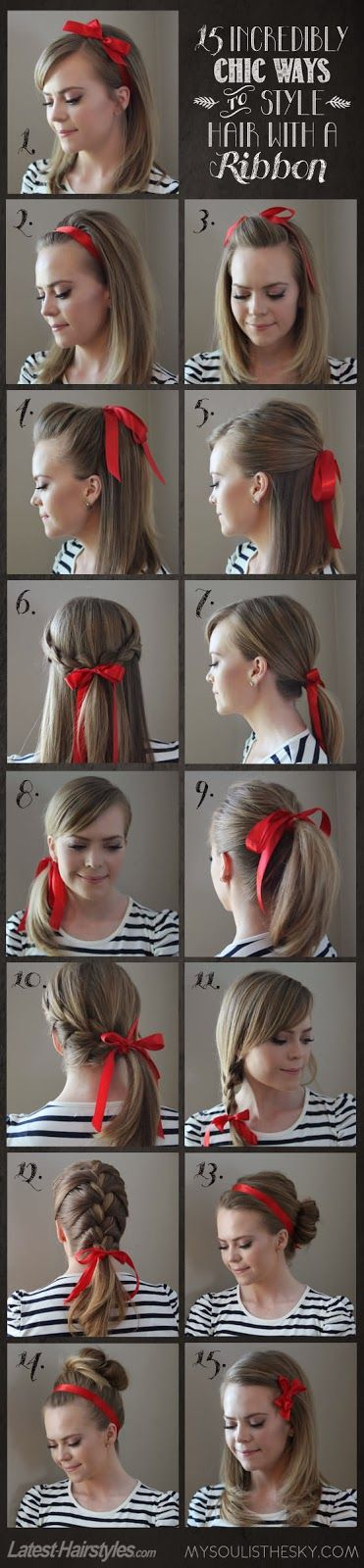 15 Incredibly Ways to Style Hair With a Ribbon