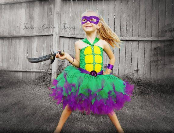 Teenage Mutant Ninja Turtle Tutu Dress Costume by TutieCutieTutus