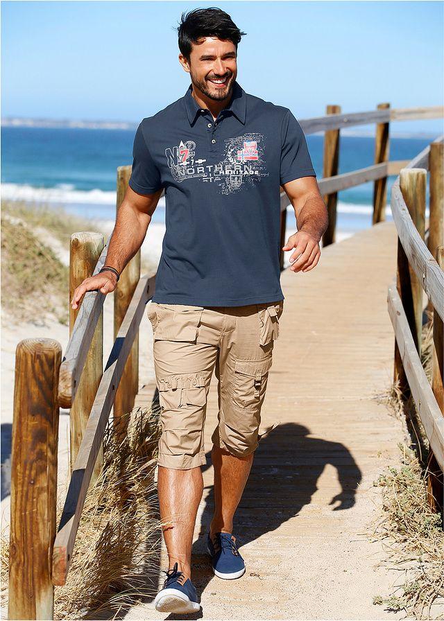 Shirt polo Regular Fit Z efektownymi • 69.99 zł • bonprix