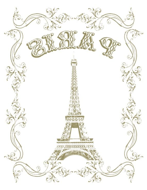 Transfer Paris printable