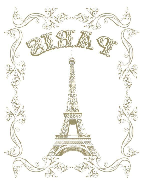 Transfer Paris printable
