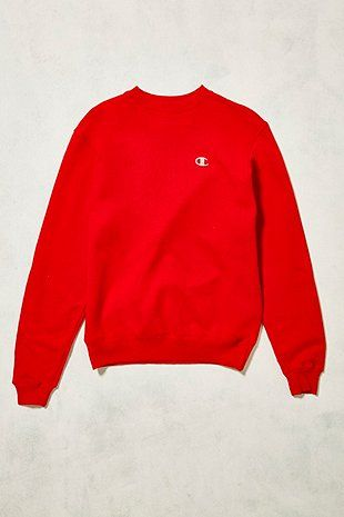 Urban Renewal Vintage One-of-a-Kind Red and White Doodle Champion Sweatshirt
