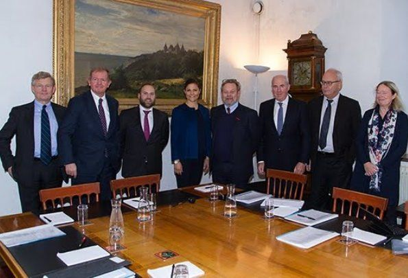 On Thursday December 1, 2016, Crown Princess Victoria of Sweden attended a board meeting of the Crown Princess Victoria's Foundation for Scientific Research and Training at the Royal Palace of Stockholm. The main aim of the foundation is to promote scientific research or provide funding to prepare teaching or training.