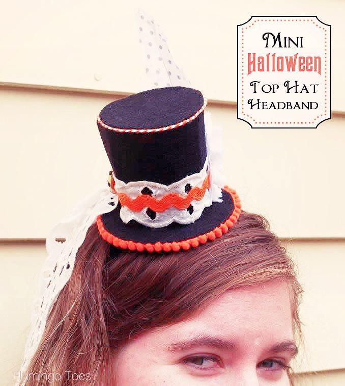 Mini Halloween Top Hat Headband - change it up to a mrs.potatohead flower headband