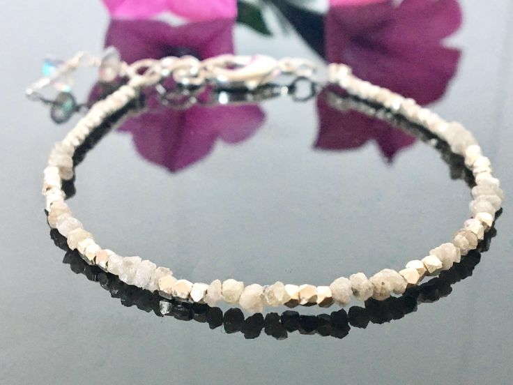 A personal favourite from my Etsy shop https://www.etsy.com/no-en/listing/526769904/diamond-bracelet-karen-hill-tribe-silver