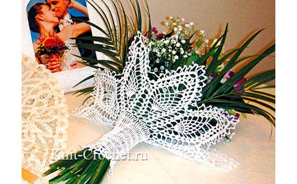 Maglia bracciale per un mazzo di fiori. schema